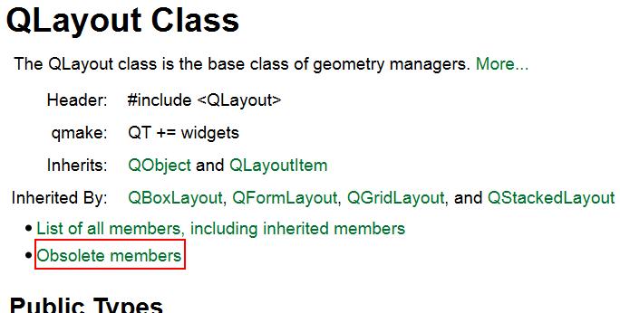 QLayout documentation screenshot
